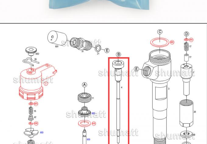 OEM new Bosch Injector Control Valve Set F00VC01358 for 0445110291 BAWFAW Injection Parts